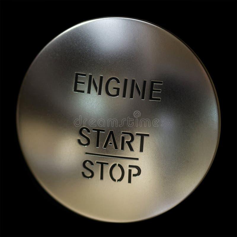 guzika samochodowego silnika początek przerwa zdjęcie stock