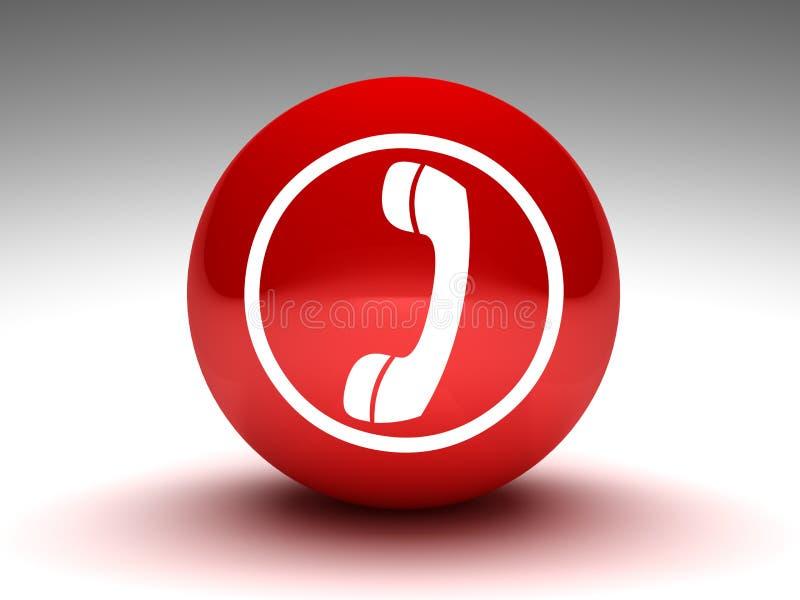 guzika telefonu czerwień ilustracja wektor