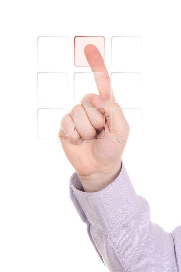 guzika wyboru czerwień zdjęcie royalty free