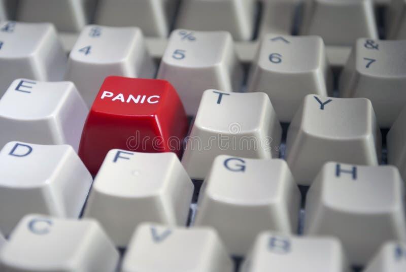 guzika zakończenia paniki czerwień obrazy stock