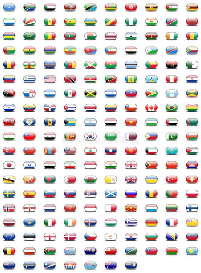 guziki zaznaczają świat zdjęcie royalty free