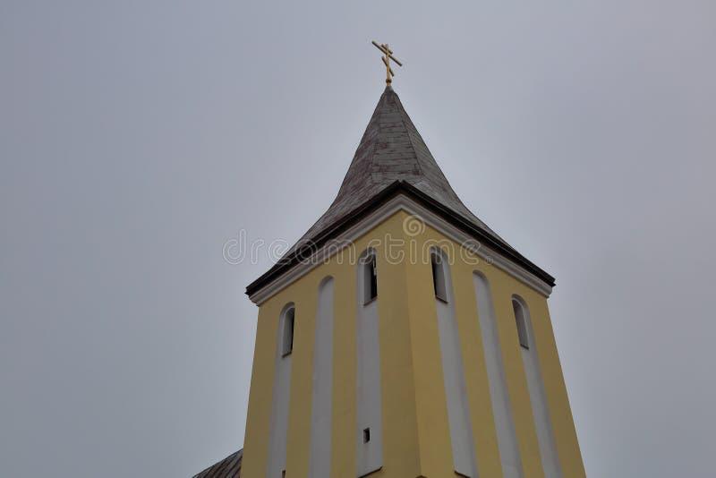 Gvardeisk的建筑学,加里宁格勒地区,俄罗斯 图库摄影