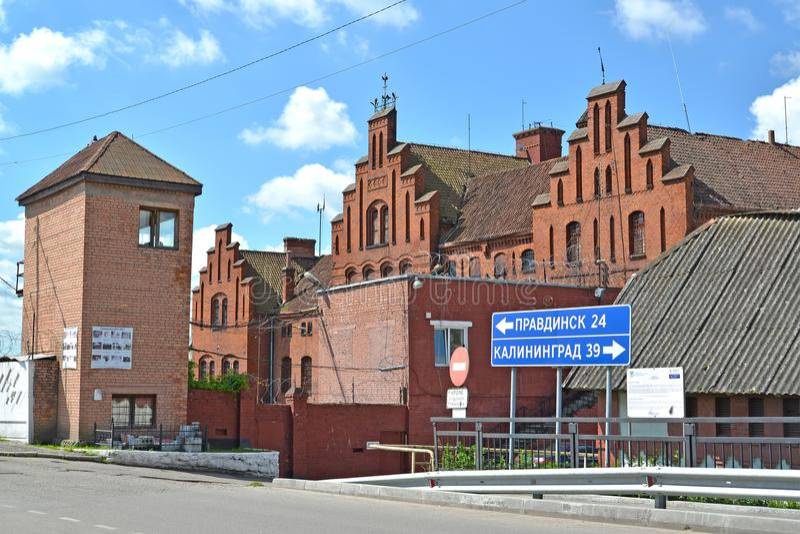 GVARDEYSK,俄罗斯 条顿人Tapiau的看法在晴天 免版税库存图片
