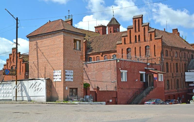 GVARDEYSK,俄罗斯 条顿人Tapiau锁的片段在晴天 免版税库存照片