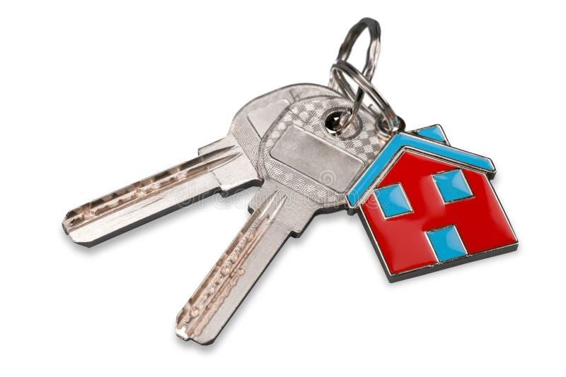 Gviving Haustasten des des Immobilienmaklers oder Grundstücksmaklers zum neuen Hausbesitzer, Fokus auf Tasten lizenzfreie stockfotografie