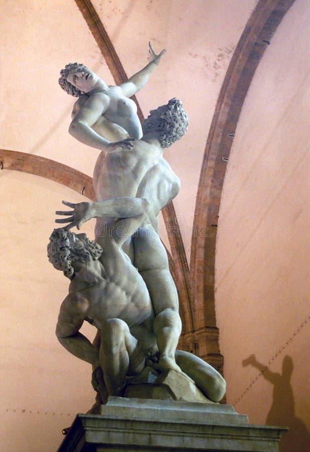 Gwałt Sabine kobiety Giambologna, Firenze, Włochy fotografia royalty free