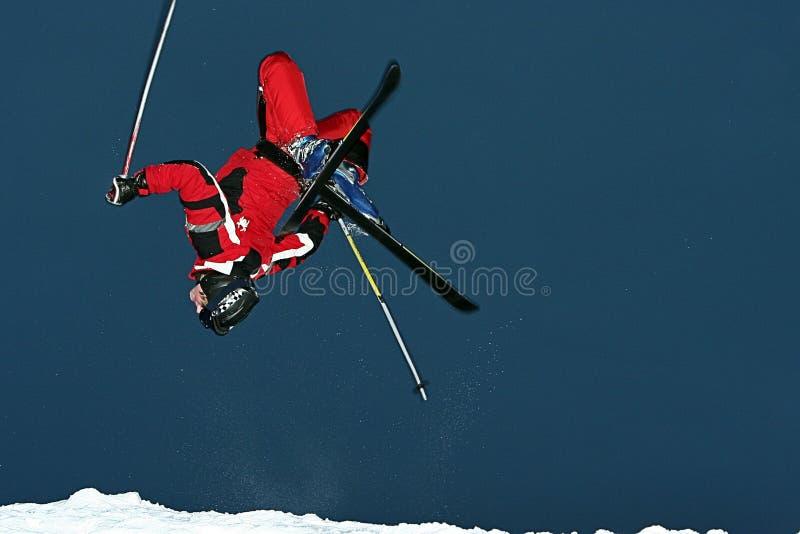 gwałtowna narciarka obraz stock
