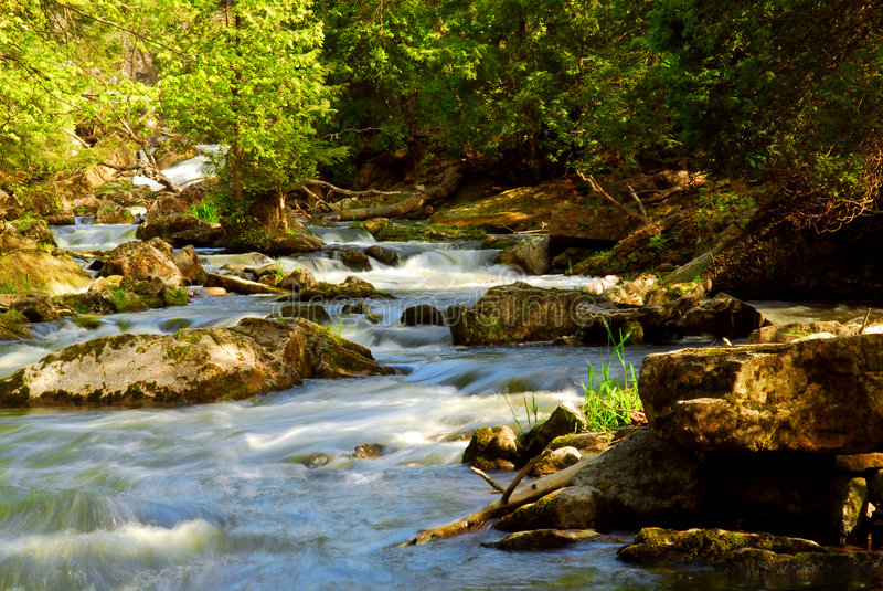 gwałtowne river fotografia royalty free