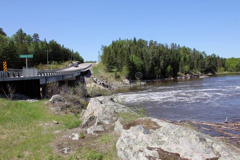 Gwałtowni przy Wabigoon rzeką, Ontario obrazy royalty free