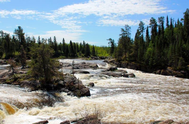 Gwałtowni przy Wabigoon rzeką, Ontario obrazy stock
