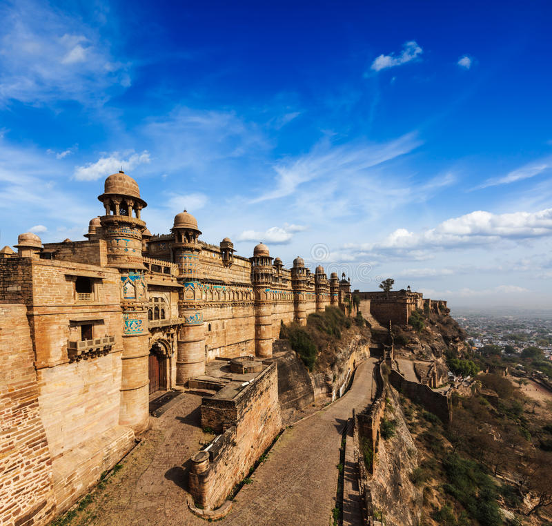 Gwalior-Fort stockbild