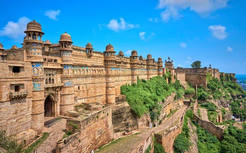 Gwalior Fort Madhya Pradesh India Stock Photo - Image of culture ...