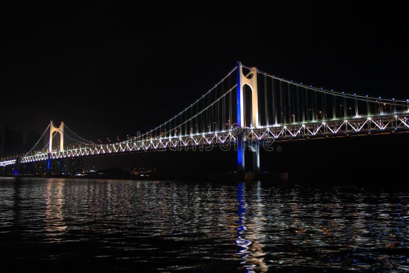 Gwangan Bridge. In Busan Korea stock images
