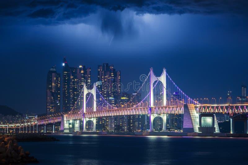 Gwangan bridge royalty free stock photos