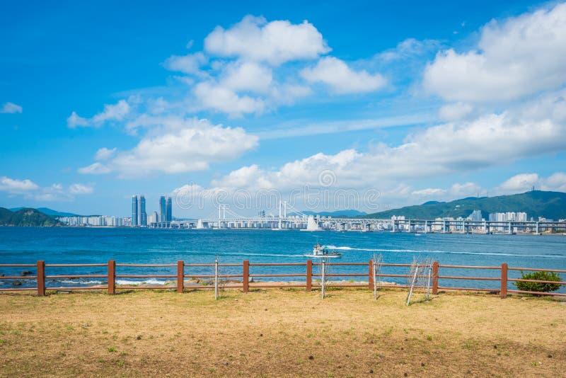 Gwangan Bridge in Busan City , South Korea. stock image