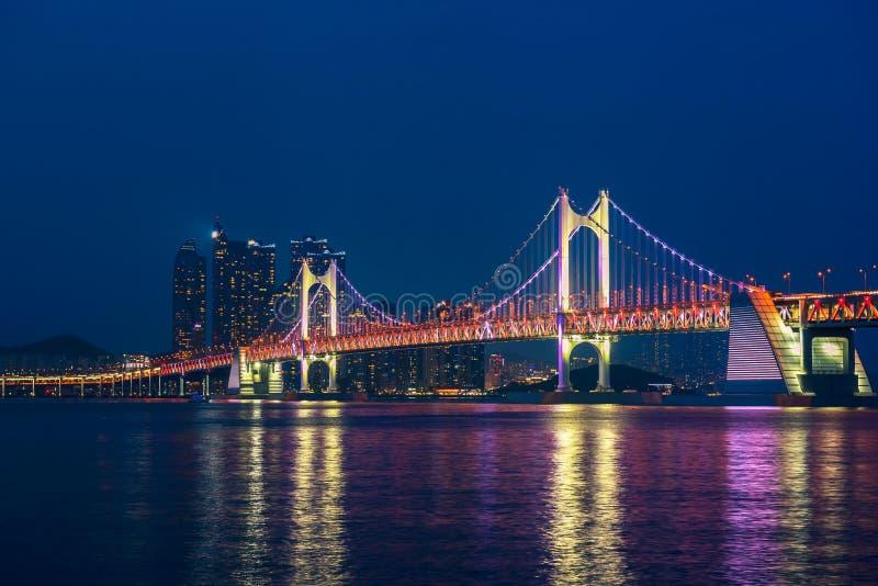 Gwangan Bridge in Busan City , South Korea stock images