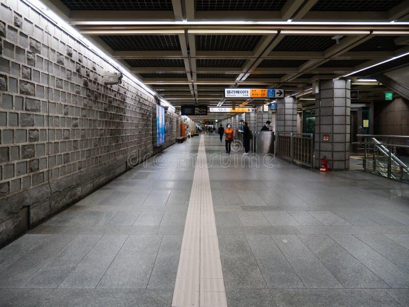 Gwanghwamun地铁站 库存图片