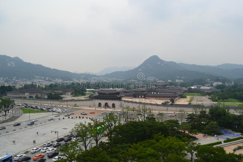 Gwanghwamun в Сеуле стоковые фотографии rf