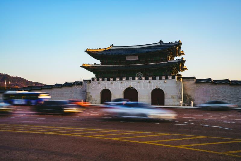 Gwanghwamun port royaltyfri fotografi