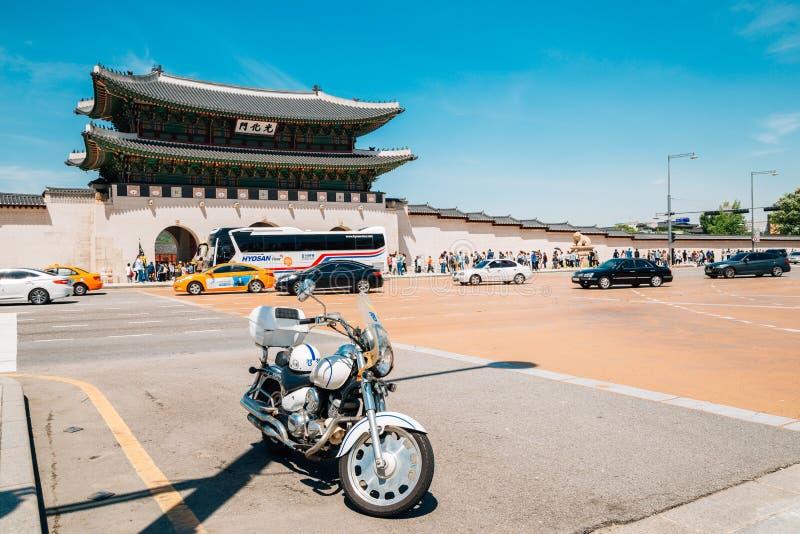 Gwanghwamun-Tor von Gyeongbokgungs-Palast in Seoul, Korea stockbild