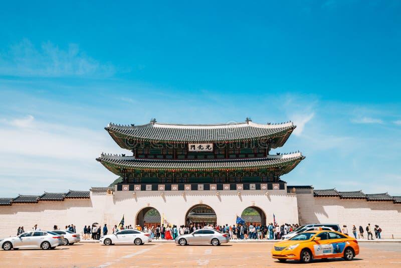 Gwanghwamun-Tor von Gyeongbokgungs-Palast in Seoul, Korea stockfoto