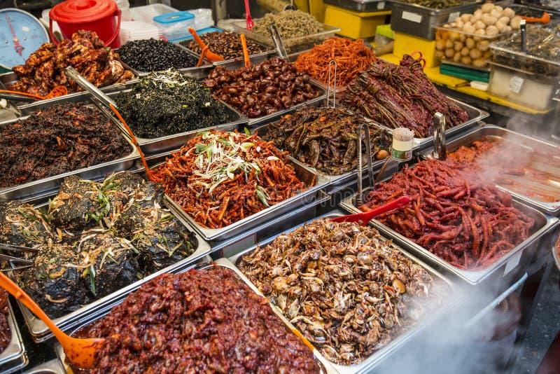 Gwangjang-Markt in Seoul stockfotos