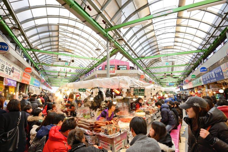 Gwangjang-Markt in Seoul lizenzfreies stockfoto