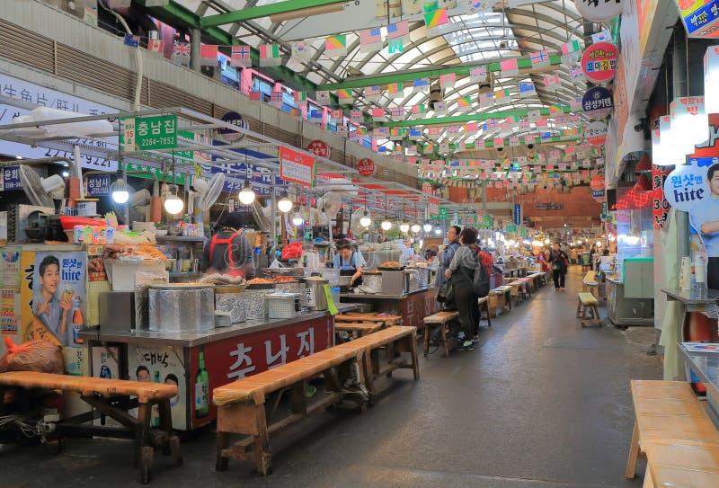 Gwangjang-Markt Seoul Südkorea stockbild