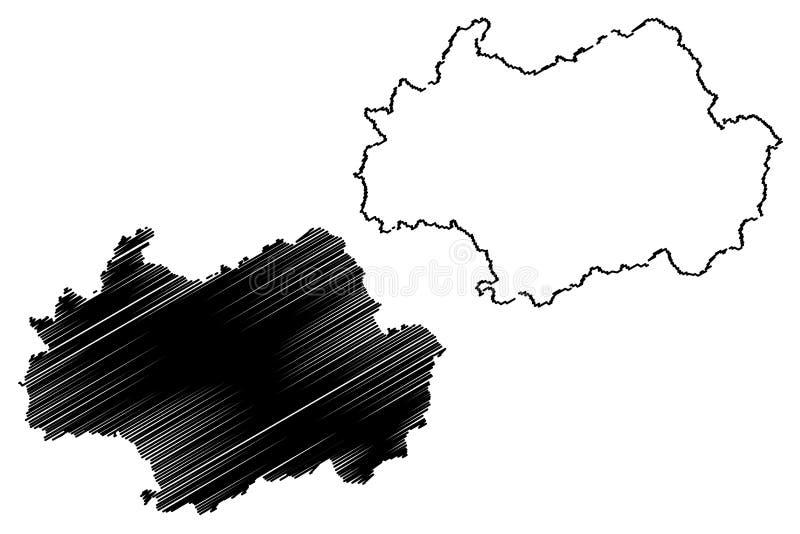 Gwangju översiktsvektor vektor illustrationer
