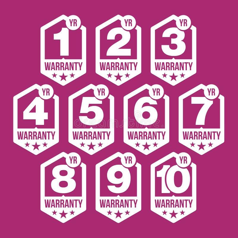 Gwaranci foki sześciokąta odznaka ilustracja wektor