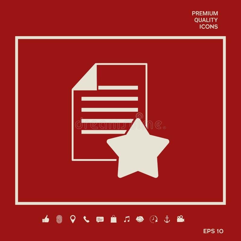 Gwaranci prześcieradło papier z gwiazdą Graficzni elementy dla twój projekta royalty ilustracja
