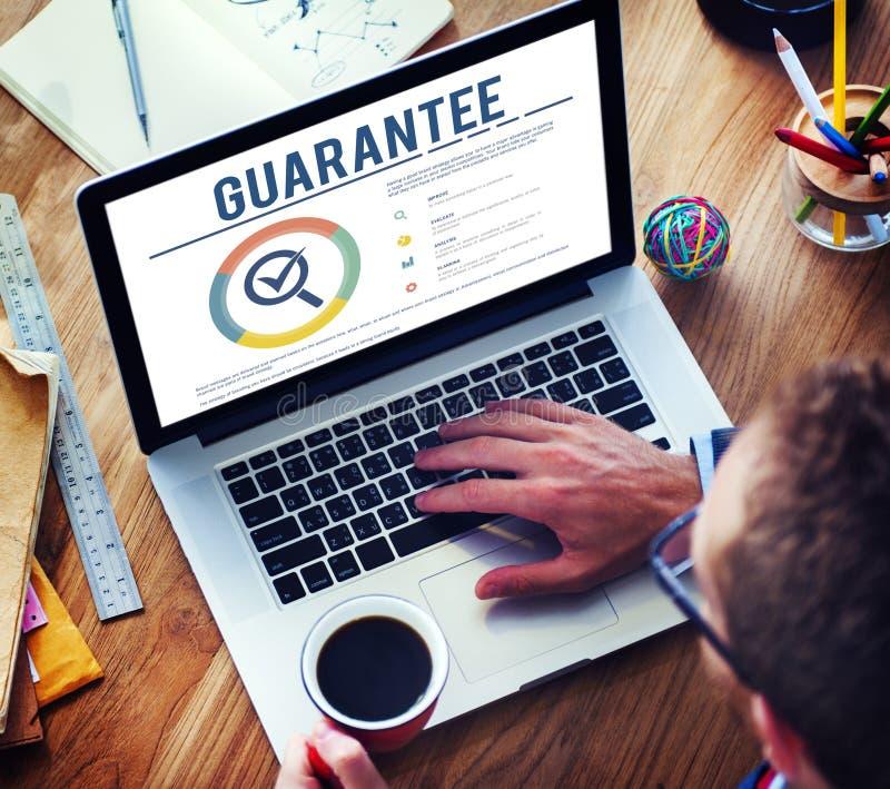 Gwaranci zapewnienia gwaranci standardu pojęcie obraz royalty free
