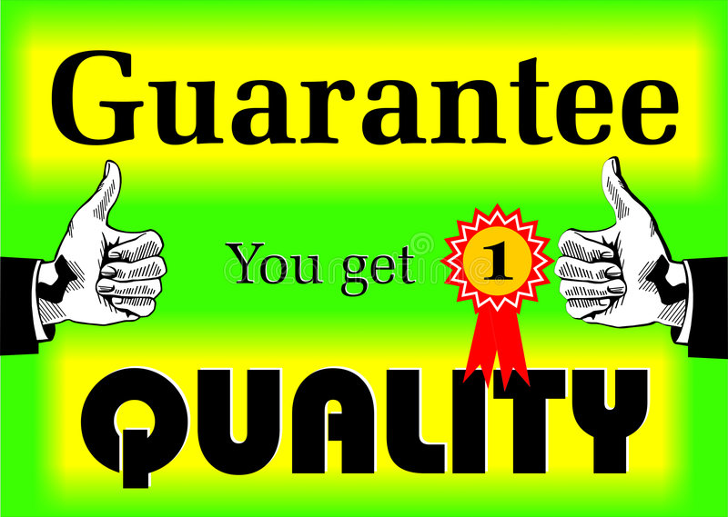 gwarancja jakości fotografia royalty free