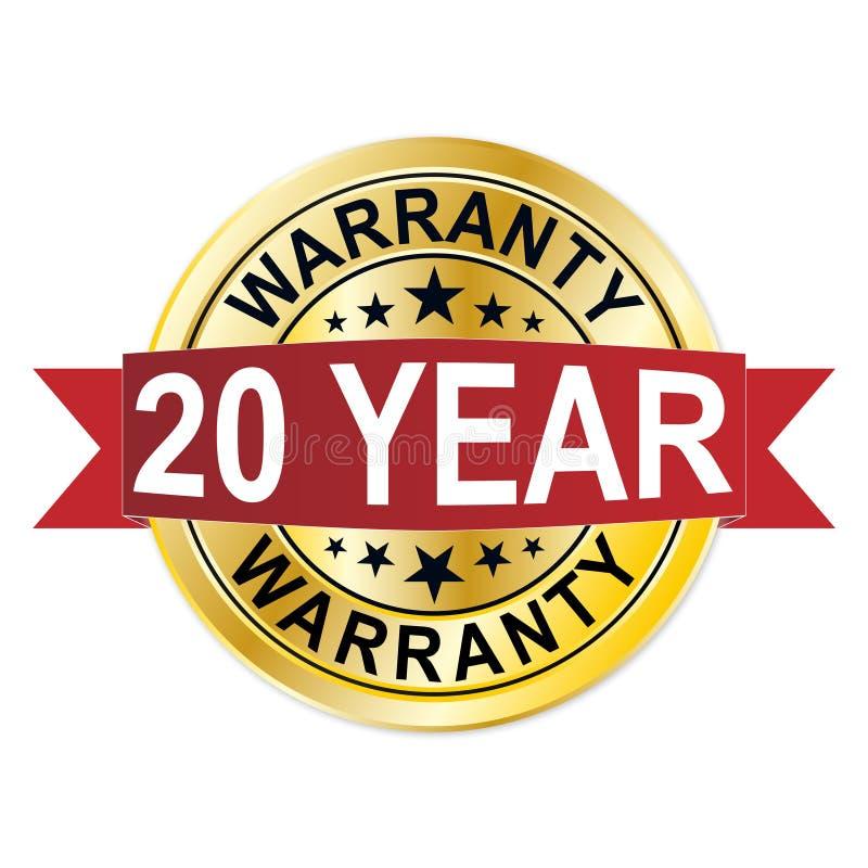 Gwarancja 20 rok doświadczenie złota etykietka ilustracji