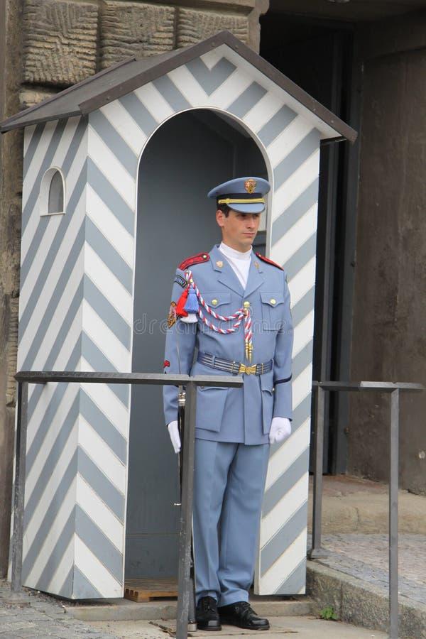 Gwardia honorowa w Praga obraz stock
