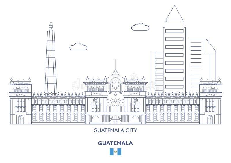 Gwatemala miasta linia horyzontu, Gwatemala ilustracja wektor