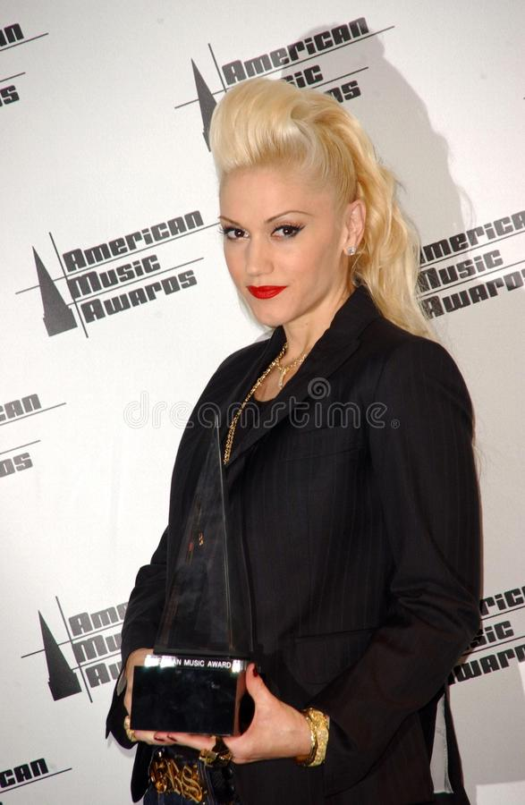 Gwen Stefani. In the Press Room at the 33rd Annual American Music Awards. Shrine Auditorium, Los Angeles, CA. 11-22-05 stock photo