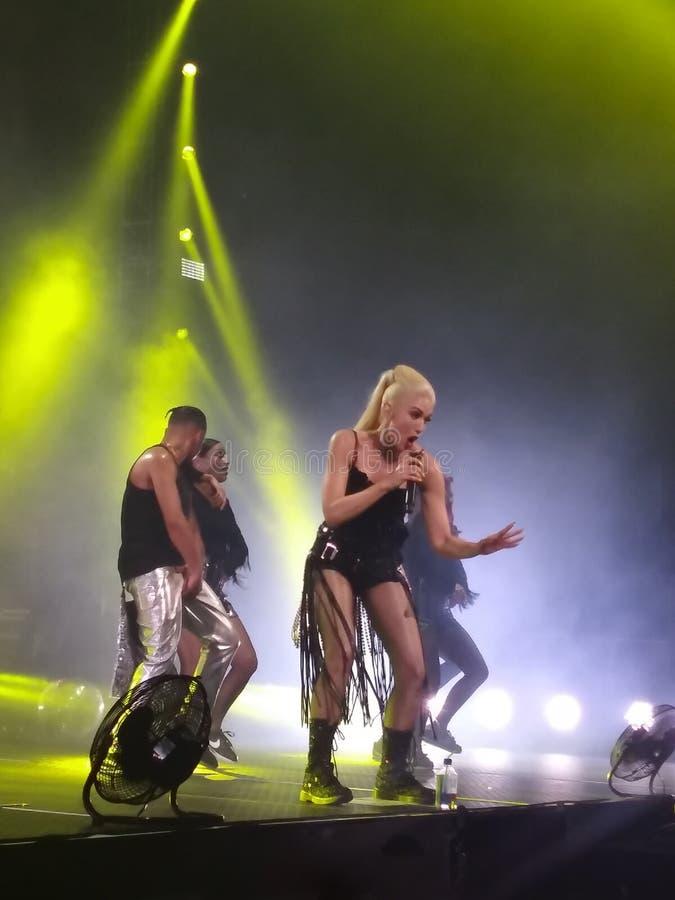 Gwen Stefani Live in Concert royaltyfri bild
