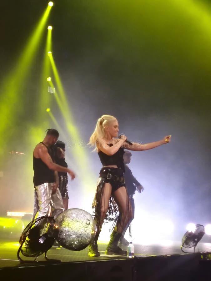 Gwen Stefani Live in Concert imagem de stock