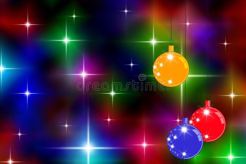 gwiaździści świąteczne lampki ilustracja wektor