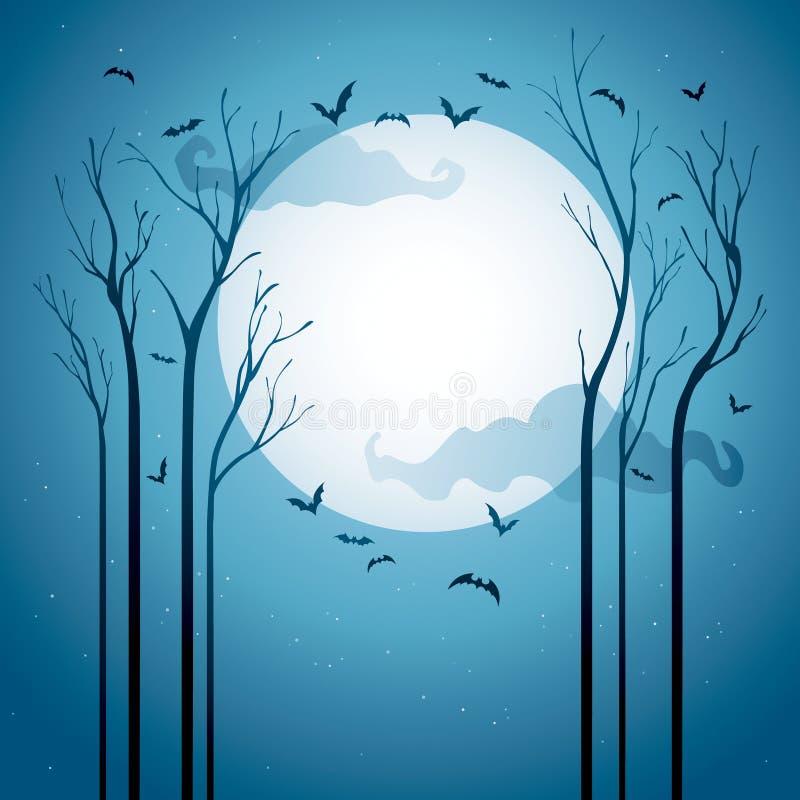 Gwiaździsta Halloweenowa noc ilustracja wektor