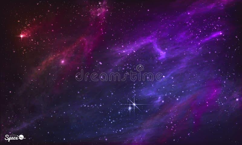Gwiaździsta mgławica Kolorowy kosmosu tło również zwrócić corel ilustracji wektora ilustracja wektor