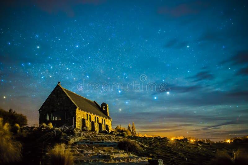 gwiaździsta noc zdjęcie royalty free