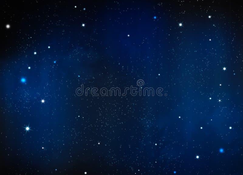 gwiaździsta noc tło royalty ilustracja