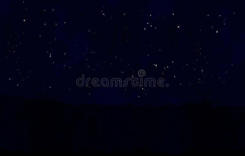 gwiaździsta noc tło Spokojna lato noc ilustracja wektor