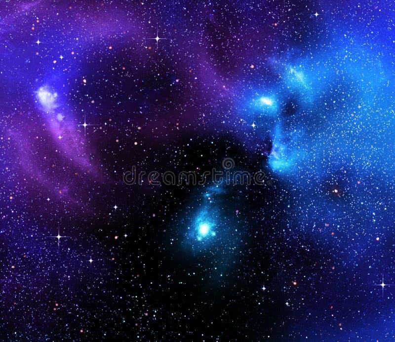 gwiaździsty głęboki tło kosmos ilustracja wektor