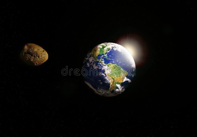 Gwiaździsty infront ziemia obrazy stock