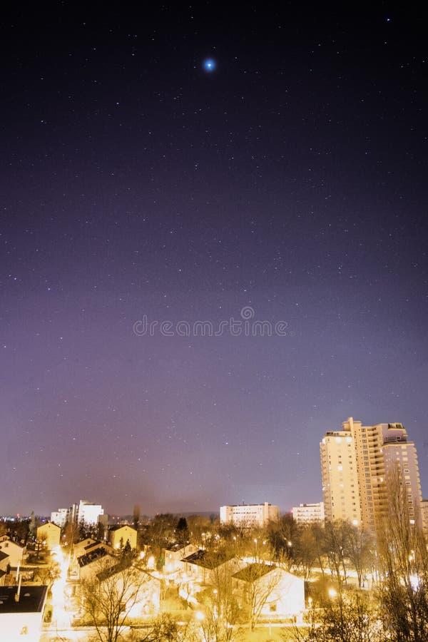 Gwiaździsty niebo Fasanenhof Stuttgart Niemcy zdjęcia royalty free