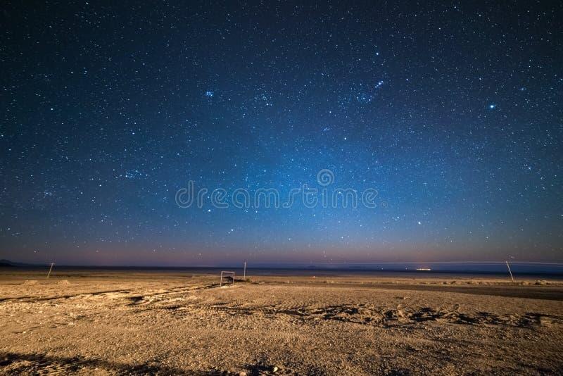 Gwiaździsty niebo na desertic Andyjskim średniogórzu, Boliwia fotografia royalty free