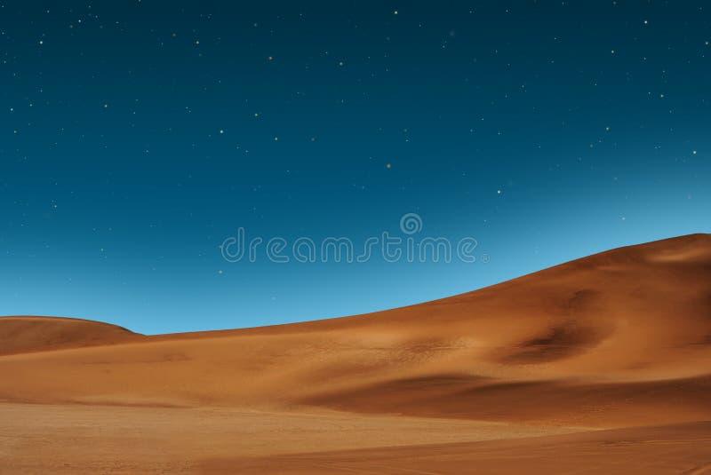 gwiaździsty pustynny niebo obrazy royalty free